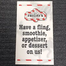 TGI Fridays Coupon TGIF - One Complimentary Smoothie Fling Appetizer or Dessert