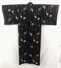 浴衣 Yukata japonais traditionnel - Daruma NOIR (LL) MADE IN JAPAN