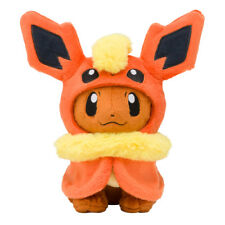 "Pokemon Center Eevee Poncho Flareon  Plush Doll Soft Figure Toy Gift 7"""