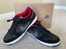 Mens Nike Renzo 2 Sweet Classic Leather Black Athletic Tennis Shoes ~ Size 11