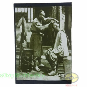 """Matted 8""""x6"""" old photograph a kid boy in Shanghai,Qing Dynasty China before1900s"""