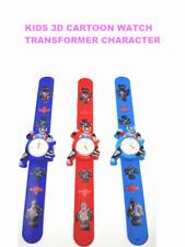 Kids Girls Boys Children 3D Transformer Cartoon Watch Free&Fast UK Post