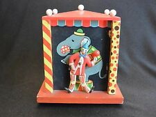 "Dancing Circus Clown Music Box Bank; ""French Can Can,""  Japan"