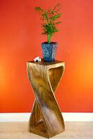 Tisch Massiv Holz Beistelltisch 76 cm Hocker Säule Blumenhocker Telefontisch