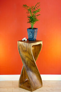 Table Solid Wood Side Table 29 7/8in Stool Columns Plant Stand Telephone