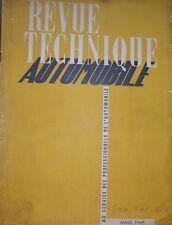 Revue technique SIMCA FIAT 6CV moteur 995 cm3 RTA N° 23 1948 + moteur CUMMINS Di