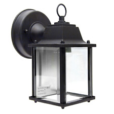 Square Coach Lantern Outdoor Porch Light Fixture w/Clear Beveled Glass  _458-02