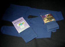 "LOT 2 COLLANTS T. UNIQUE ""H&NATHALIE"" MARINE NYLON LYCRA OPAQUE MOTIF RELIEF FUN"