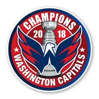 Washington Capitals 2018 Stanley Cup Champions Round Decal / Sticker Die cut (R)