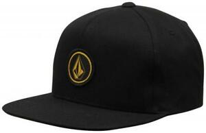 Volcom Boy's Quarter Snapback Hat - Black Gold - Volcom LOGO - NEW