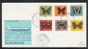 SURINAME Butterflies FIRST DAY COVER