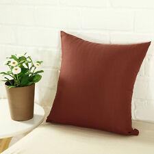 Plain Solid Throw Home Decor Pillow Case Bed Sofa Waist Cushion Cover Multicolor