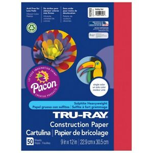 """Tru-Ray Construction Paper 9x12"""" Holiday Red"""