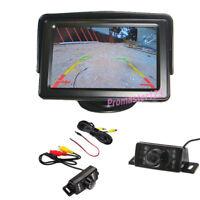 "7 IR LED Nachtsicht Kamera Rückfahrkamera + 4,3"" Auto KFZ Monitor Rückfahrsystem"