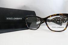 Dolce & Gabbana DG 3236 502 Havana Authentic Eyeglasses 52mm 16mm 140mm w/Case