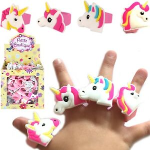TOY UNICORN RINGS GIRLS CUTE WEDDING FAVOR PRINCESSES BIRTHDAY PARTY BAG FILLERS