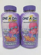 2 ONE A DAY KIDS COMPLETE MULTIVITAMIN TROLLS THEME 180 GUMMIES EA 5/20 TF 1694