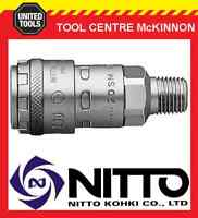 """GENUINE NITTO ONE TOUCH FEMALE COUPLING WITH 1/4"""" BSP MALE THREAD (20SM-200)"""
