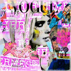 Ausstellungsstück! Motiv Cara vs. Pink  95x95 Plexiglas Bild/Loft/Glas/Fashion