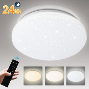 LED Deckenleuchte Deckenlampe Wohnzimmer Badleuchte Sternenhimmel 24W Dimmbar