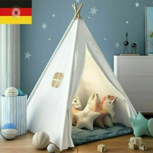 Tipi Zelt Kinderzelt Baby Spielzelt Indianerzelt Baumwolle Drinnen Draußen Neu