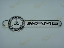 MERCEDES BENZ AMG ALUMINIUM REAR FENDER DOOR CAR LOGO BADGE EMBLEM ADHESIVE