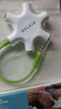 RockStar Belkin 5 Jack Multi Headphone Audio Splitter Genuine US Seller NEW