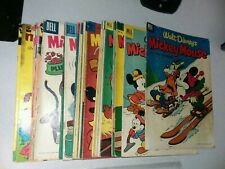 Mickey Mouse 21 Issue Golden Silver Bronze Age Comics Lot Run Set Collection