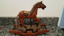 Antique Vintage Rocking Horse Hand Carved and Hand Painted