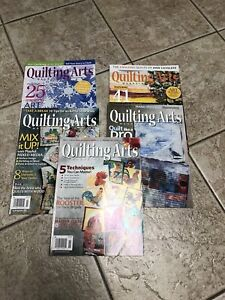 lot of 5 Quilting Arts magazine 2016-2017  Issues 84 85 87 88 89