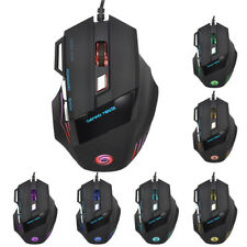 LED Optical 5500 DPI 7 Button USB Wired Gaming Mouse Mice For Pro PC SS