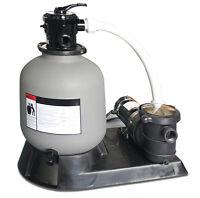 "Swimline 71915 19"" 2900 GPH Sand Filter Pump Above Ground Intex Swimming Pool"
