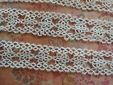 """1.75"""" Antique TATTING vintage lace 40"""" TATTED"""