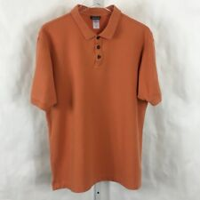 Patagonia Mens Polo Shirt Short Sleeve Orange Size L