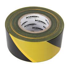 70mm x 500m Black/Yellow Hazard Tape - Barrier / Barricade Safety Marking Roll