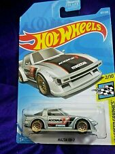 Hot Wheels Mazda RX-7 HW Speed Graphics Series #2/10 Silver Diecast 1:64 Scale