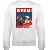 WHAM LAST CHRISTMAS JUMPER Mens Xmas George Micheael Unisex CD Album Sweatshirt