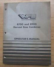 White 8700 & 8900 Combine Operators Setup Repair Manual 220 Pages