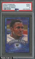 2000 Donruss Gridiron Kings #Gk3 Barry Sanders Lions PSA 9 MINT POP 2