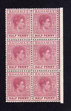 """Bahamas 1938 ½ D con alargada """"e"""" Sg 149ec Mnh."""