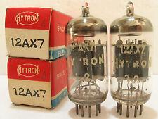 2 matched 1966-67 Amperex/Hytron 12AX7 (ECC83)tubes - TV7B tested @ 55/56, 55/57