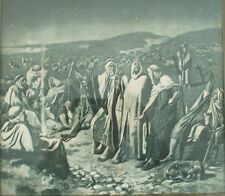 HENRY RANKIN POORE LITHOGRAPH - LISTED ARTIST - ARAB GATHERING WITH SHEEP