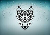 Autocollant sticker voiture moto loup wolf tribal tuning biker motard r5
