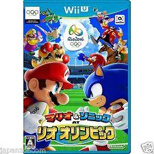 Mario & Sonic Rio 2016 Olympic Games Wii U Nintendo Japanese Japanzon