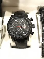 BEAUTIFUL Men's 21/2 Kt Black Diamond Bezel KC  Watchs Diamond Timepieces