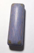 Antique Art Nouveau Leather? Jewelry Box, Stick Pin/Bar Pin