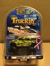 1 Badd Ride 1:64 TRUCKIN'  Hummer H2 4x4 Military Pickup Truck Diecast Car New