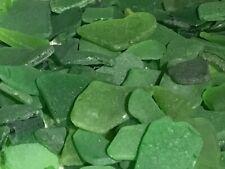 Genuine Sea Beach Glass Greens Small Craft Quality Bulk Lot 60 Pieces
