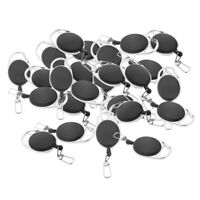25x Anti Lost Key Ring Retractable Clip Keyring Key Finder ID Card Holder