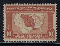 SCOTT 327 1904 10 CENT LOUISIANA PURCHASE EXPOSITION ISSUE MH OG VF CAT $125!